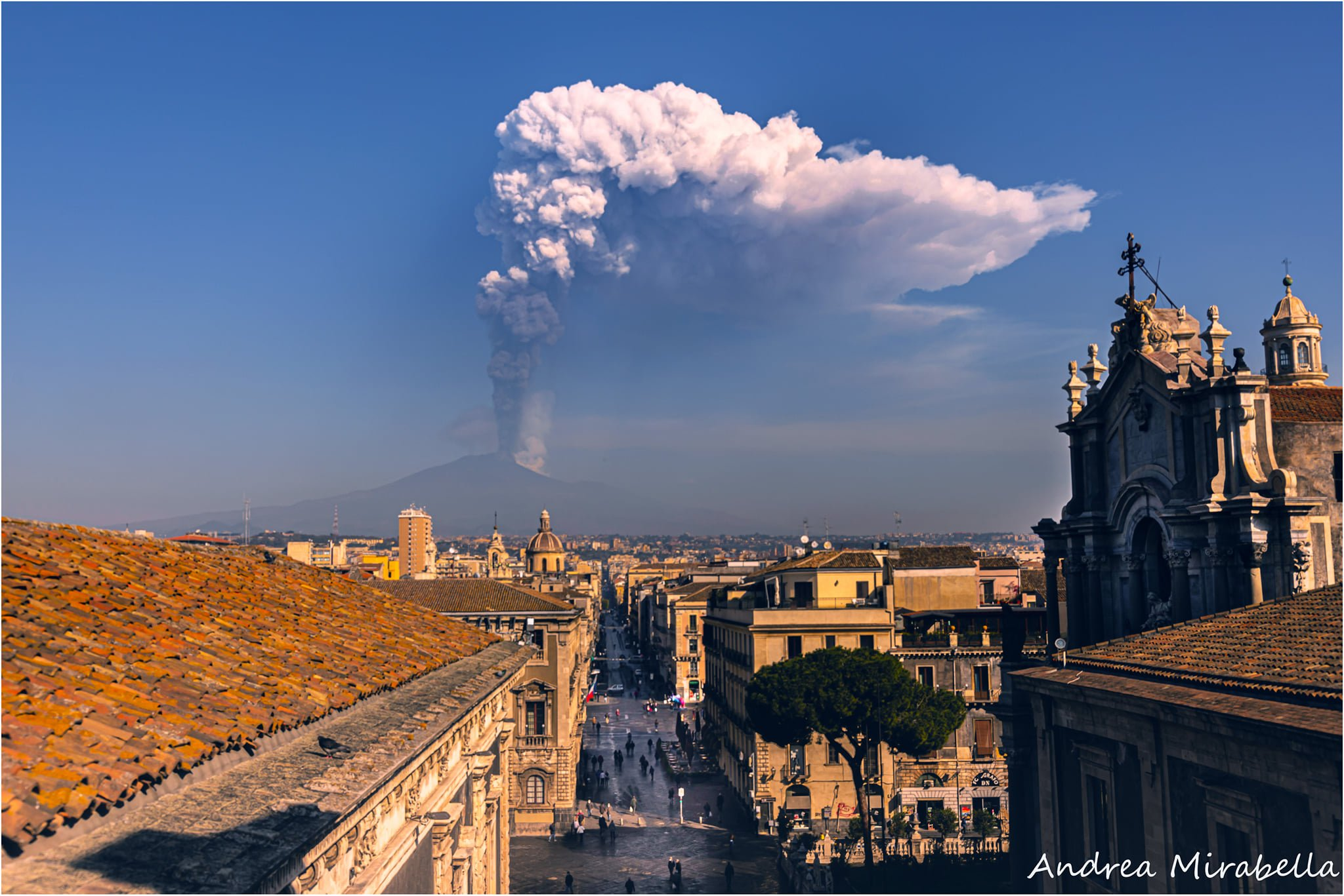 9th eruption, 4th mar 2021. View from Catania, Andrea Mirabella