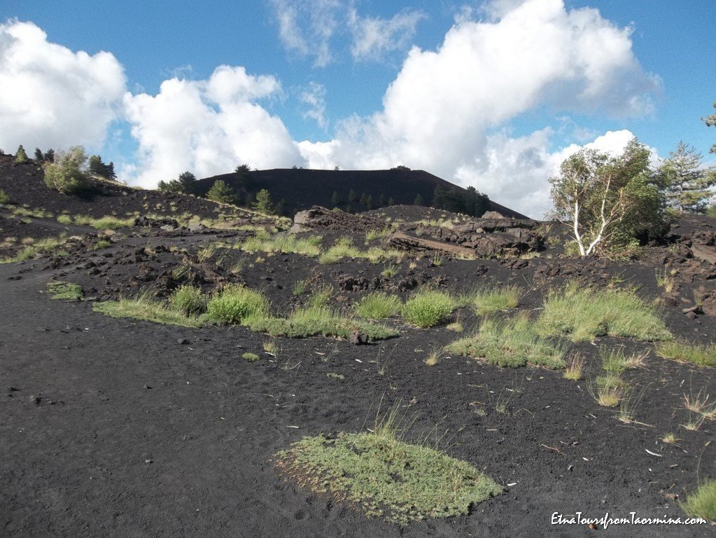 Walk on flank craters on Etna
